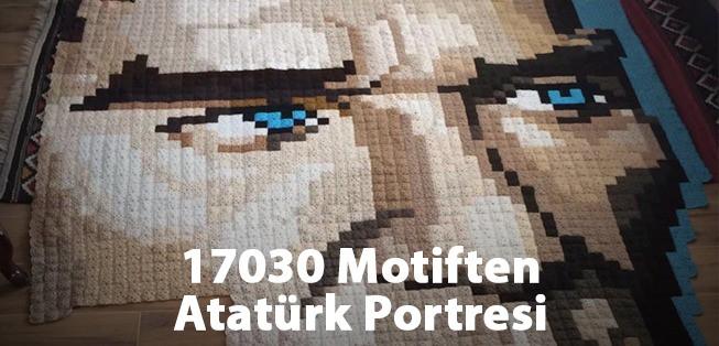 Kare Kare Örülen Atatürk Portresi